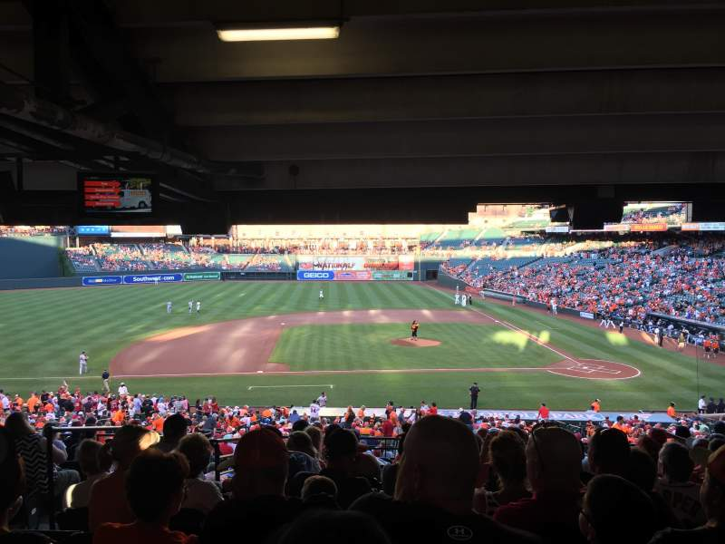 Seating view for Oriole Park at Camden Yards Section 49 Row 13 Seat 18