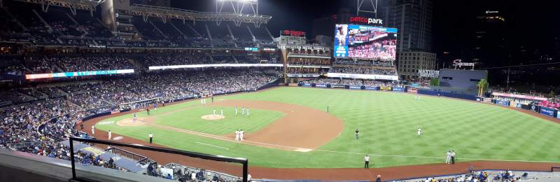Seating view for PETCO Park Section 213 Row 2 Seat 1