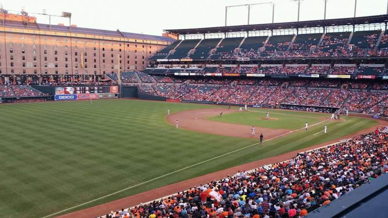 Seating view for Oriole Park at Camden Yards Section 264 Row 1 Seat 10