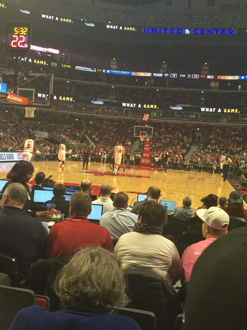 Seating view for United Center Section 116 Row D