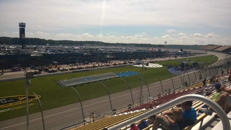 Seating view for Michigan International Speedway Section 22 Row 22 Seat 1