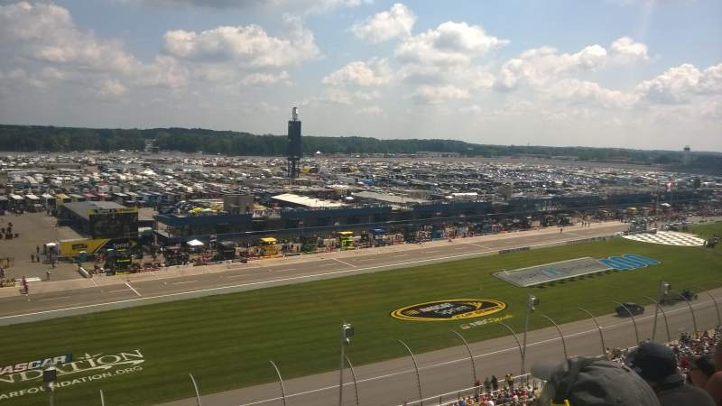 Seating view for Michigan International Speedway Section 28 Row 39 Seat 3