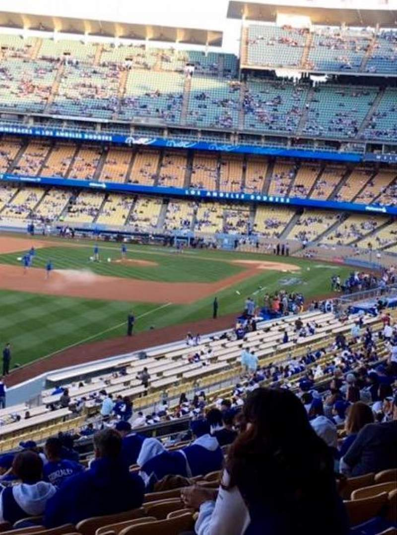 Seating view for Dodger Stadium Section 161LG Row M Seat 7