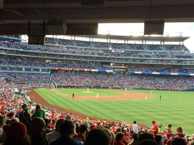 Seating view for Nationals Park Section 136 Row TT Seat 5