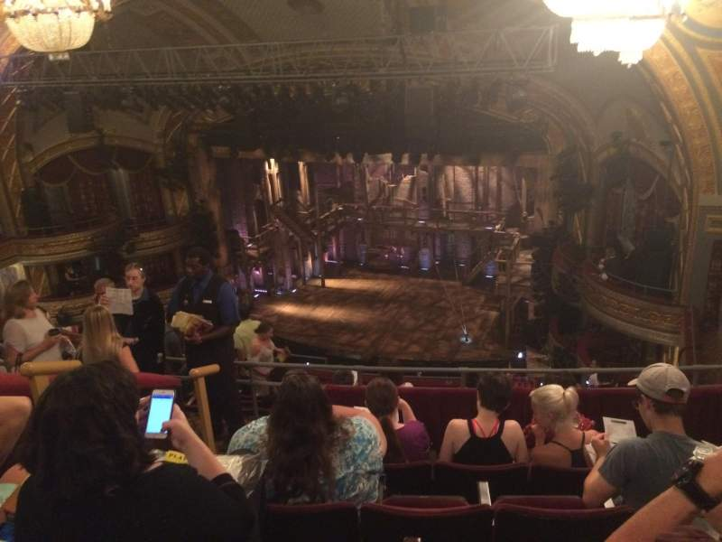 Seating view for Richard Rodgers Theatre Section Rear Mezz Right Row E Seat 22