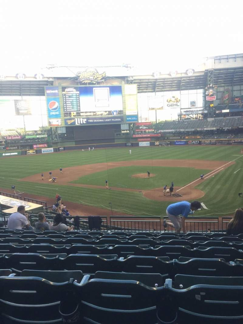 Seating view for Miller Park Section 220 Row 9