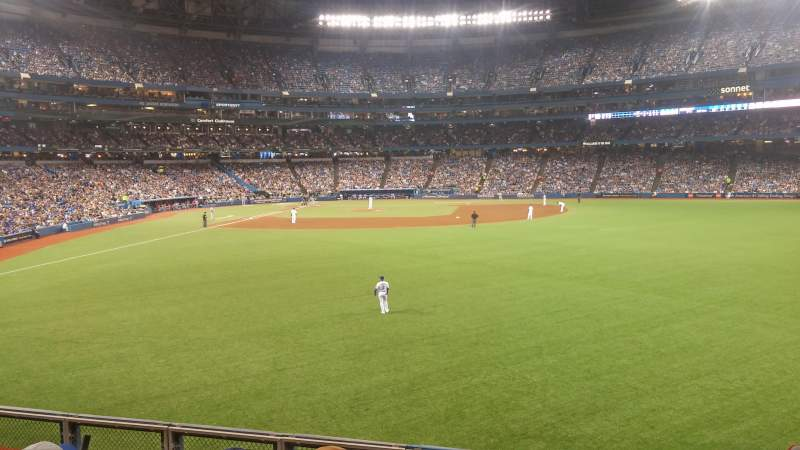 Seating view for Rogers Centre Section 106 Row 4 Seat 8