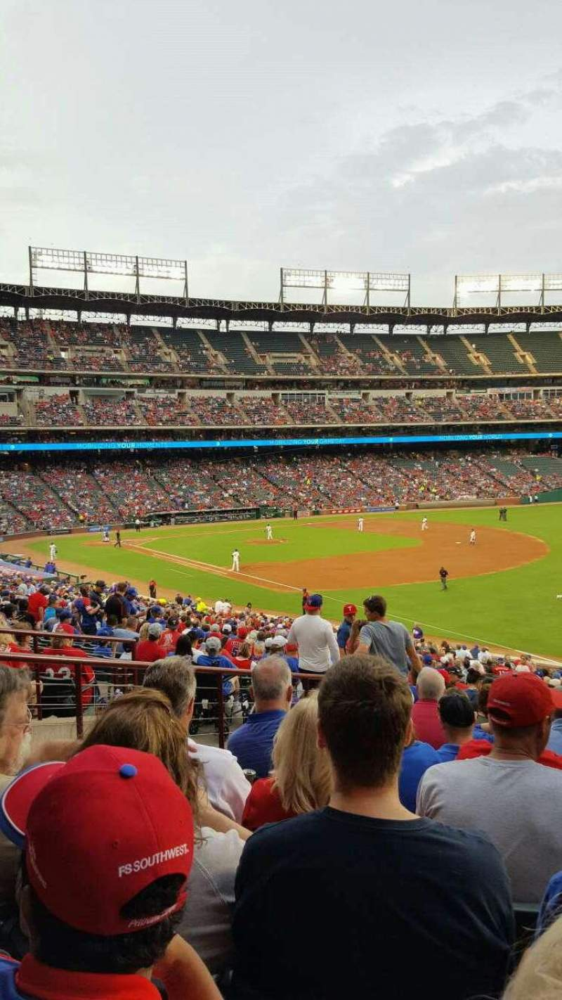 Seating view for Globe Life Park in Arlington Section 39 Row 39 Seat 4