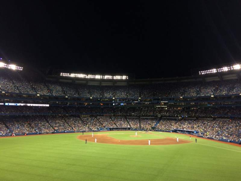 Seating view for Rogers Centre Section 244L Row 2 Seat 110