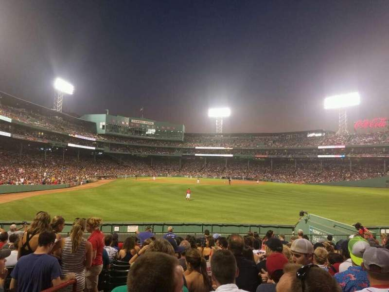 Seating view for Fenway Park Section Bleacher 42 Row 15 Seat 20