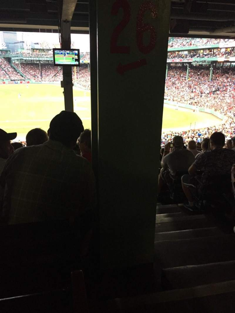 Seating view for Fenway Park Section Grandstand 26 Row 18 Seat 2