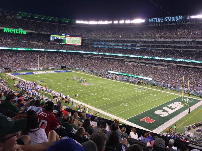 Seating view for metlife stadium Section 233 Row 10 Seat 1
