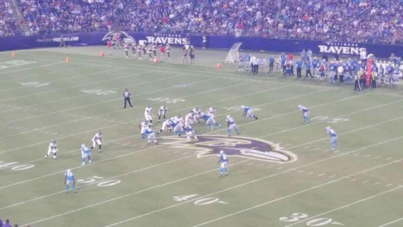 Seating view for M&T Bank Stadium Section 345 Seat 20