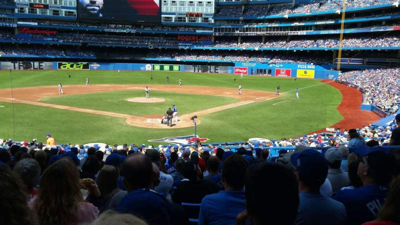 Seating view for Rogers Centre Section 122L Row 30 Seat 109