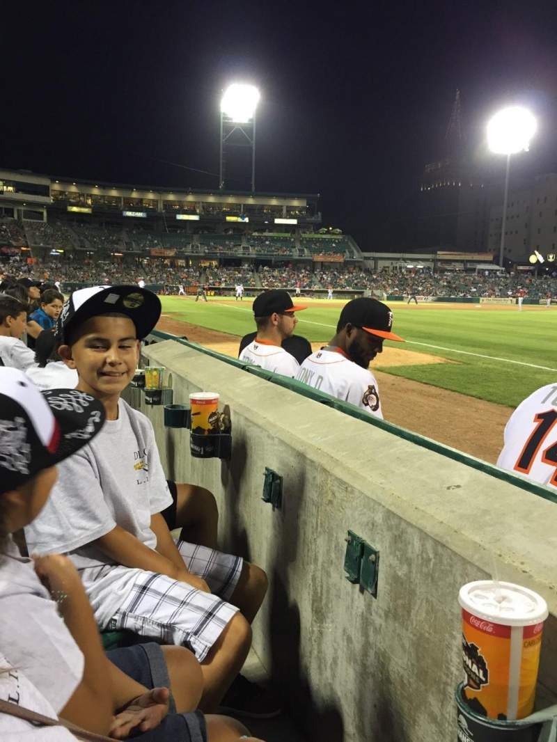 Seating view for Chukchansi Park Section 125 Row 2 Seat 01