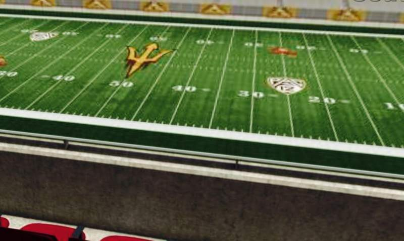 Seating view for Sun Devil Stadium Section 203 Row 1 Seat 15