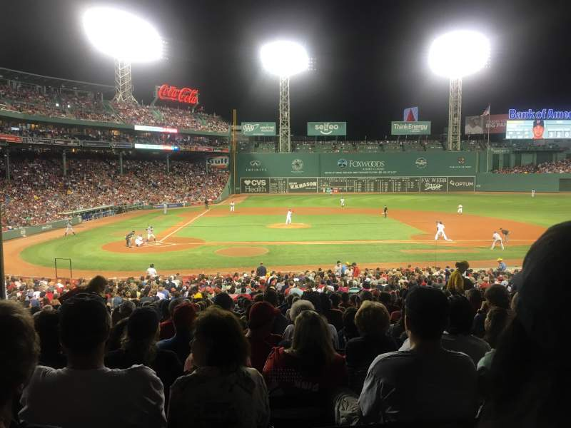 Seating view for Fenway Park Section Grandstand 16 Row 6 Seat 22