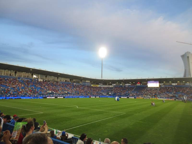 Seating view for Stade Saputo Section 112 Row F Seat 5