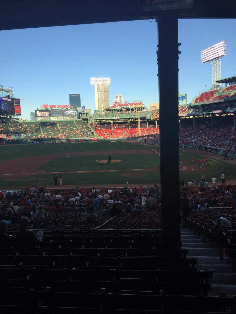 Seating view for Fenway Park Section Grandstand 25 Row 9 Seat 2