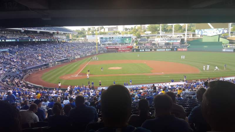 Seating view for Kauffman Stadium Section 232 Row SS Seat 14