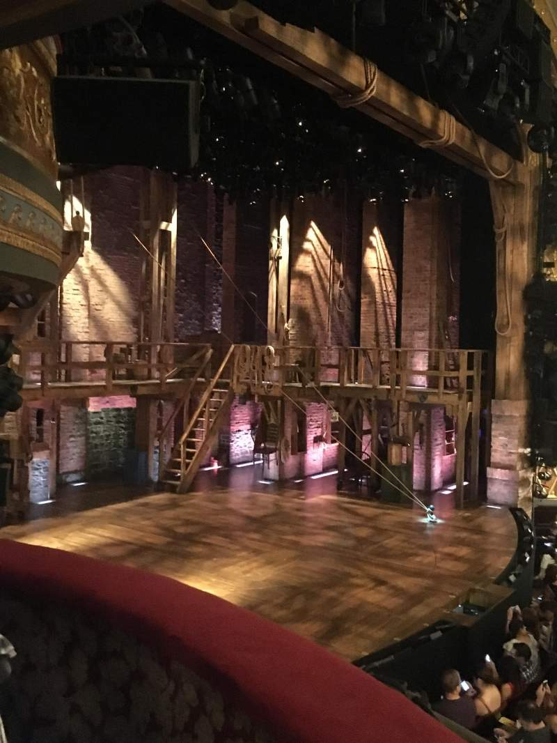 Seating view for Richard Rodgers Theatre Section Box B (Low Box B Left) Row 1 Seat 3
