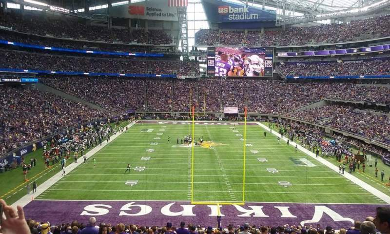 Seating view for U.S. Bank Stadium Section 142 Row 38 Seat 7 and 8