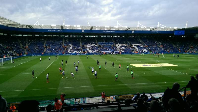 Seating view for King Power Stadium Section H1 Row V Seat 164