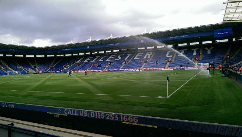Seating view for King Power Stadium Section C2 Row D Seat 299
