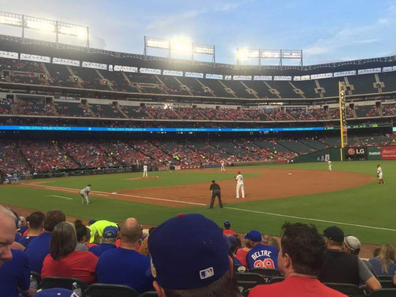 Seating view for Globe Life Park in Arlington Section 37 Row 9 Seat 9