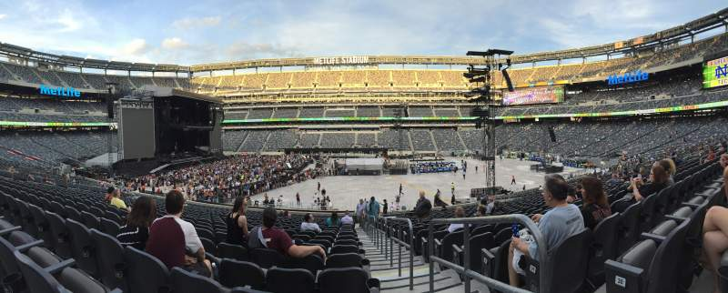 Seating view for MetLife Stadium Section 139 Row 31 Seat 2