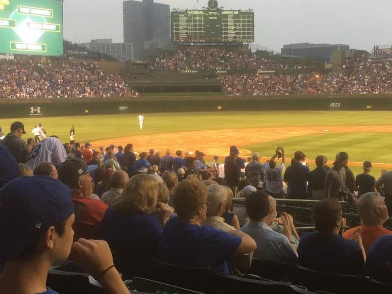 Seating view for Wrigley Field Section 116 Row 11 Seat 1