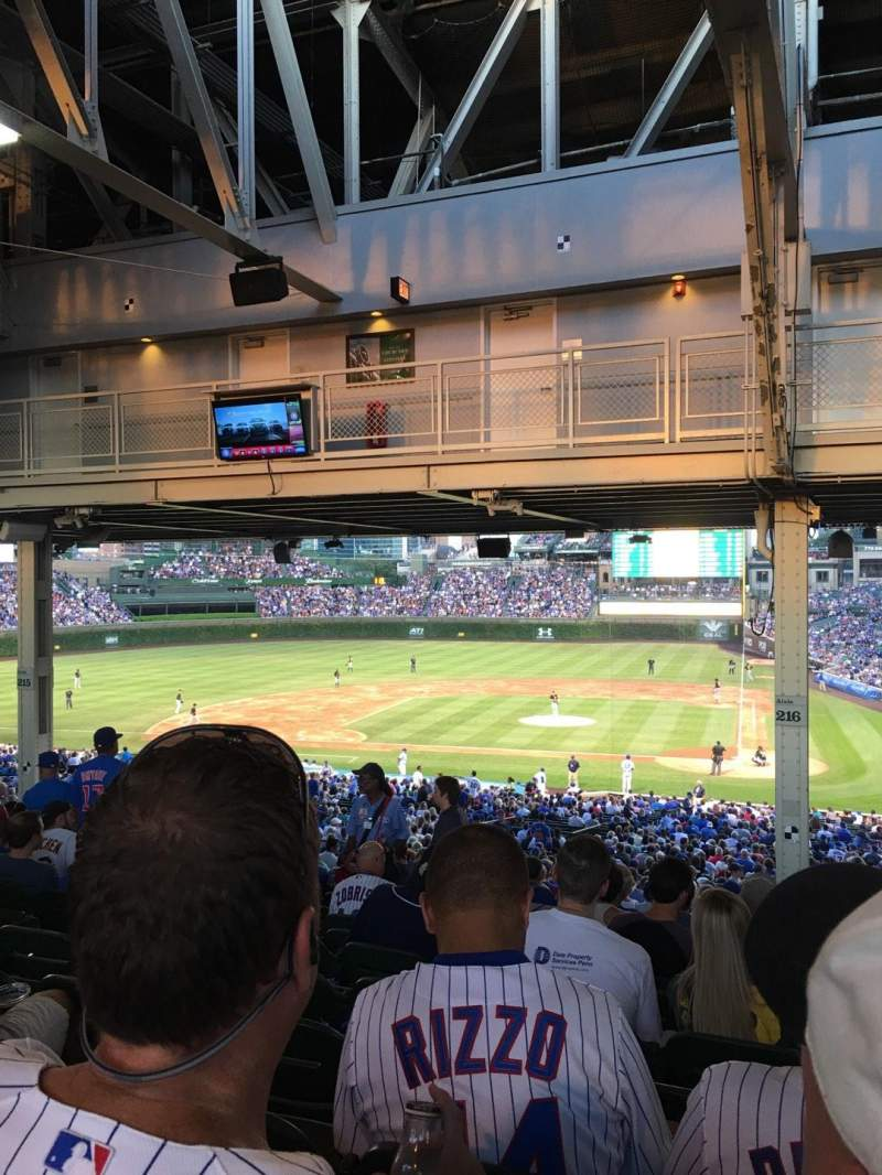Seating view for Wrigley Field Section 216 Row 21 Seat 7