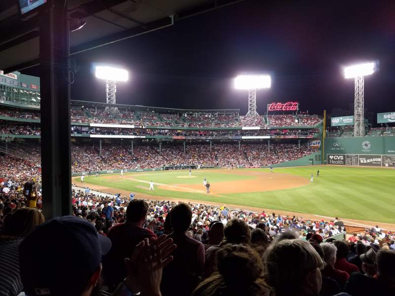 Seating view for Fenway Park Section Grandstand 10 Row 5 Seat 8