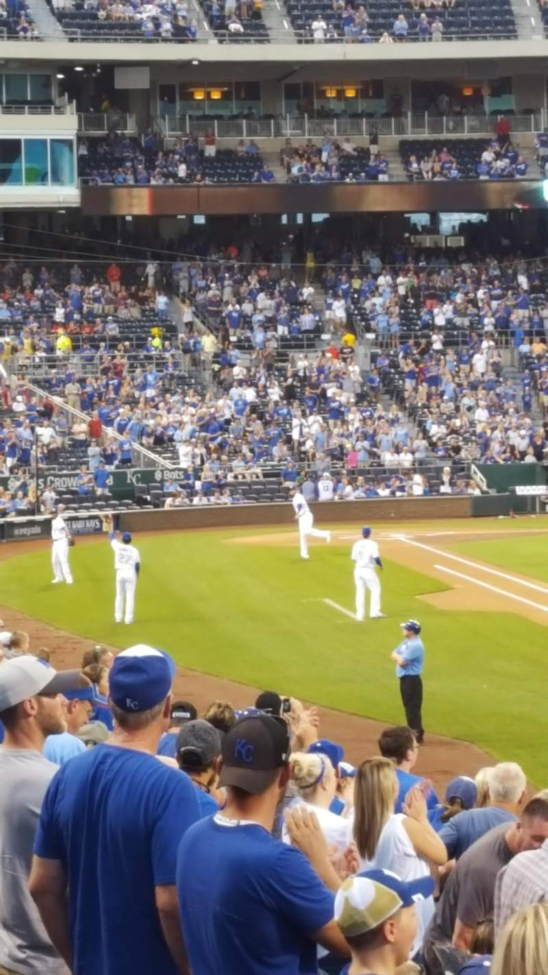 Seating view for Kauffman Stadium Section 145 Row S Seat 4