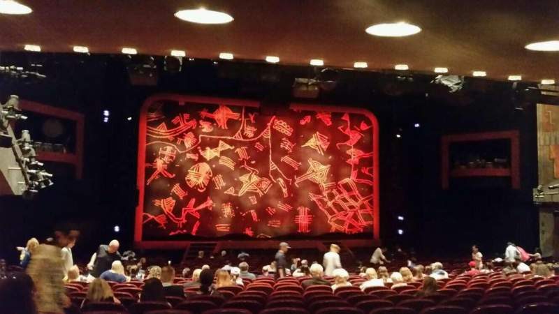 Seating view for Minskoff Theatre Section Orch Row YY Seat 104