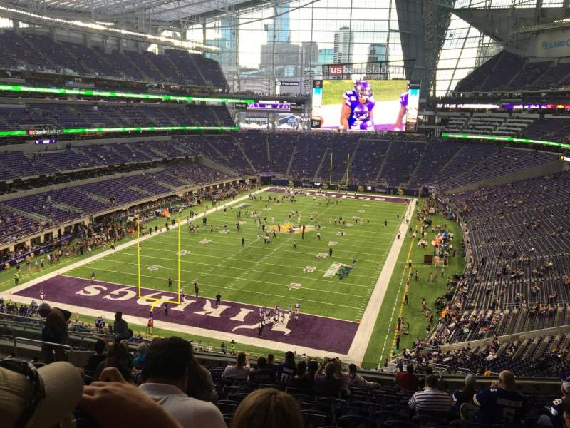 Seating view for U.S. Bank Stadium Section 221 Row 14 Seat 17