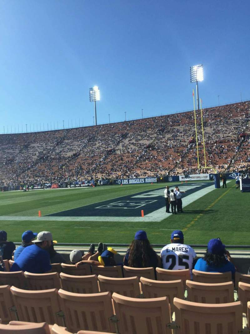 Seating view for Los Angeles Memorial Coliseum Section 4H Row 6 Seat 117