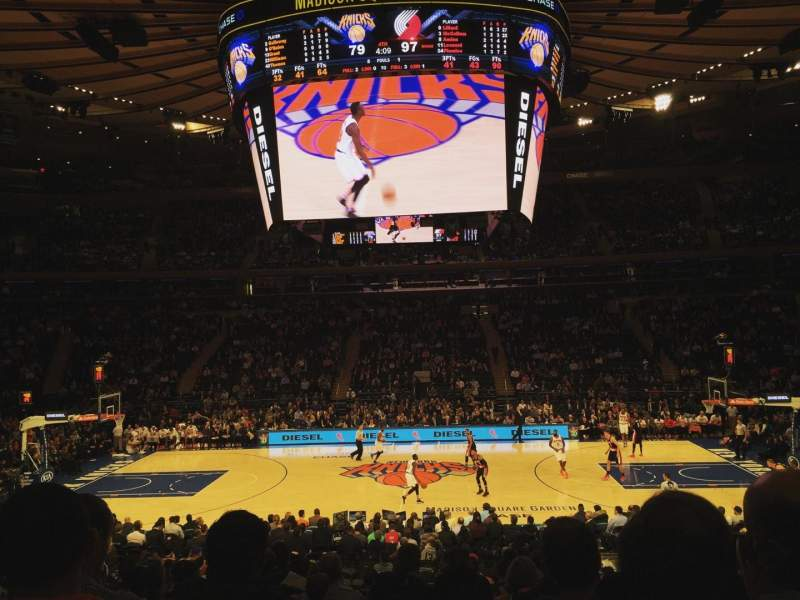 Seating view for Madison Square Garden Section 117 Row 15 Seat 5