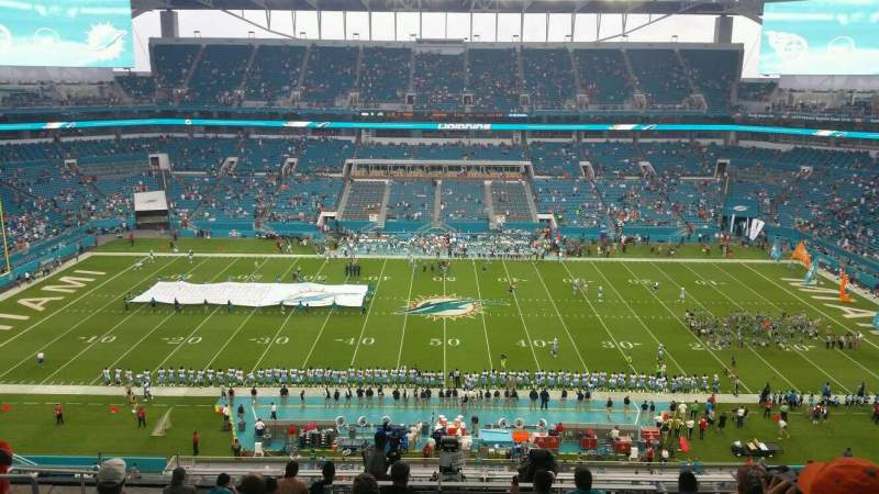 Seating view for Hard Rock Stadium Section 318 Row 11 Seat 16