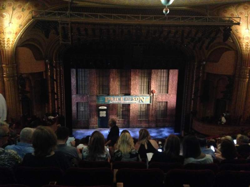 Seating view for Al Hirschfeld Theatre Section Mezzanine Row Q Seat 112 and 11