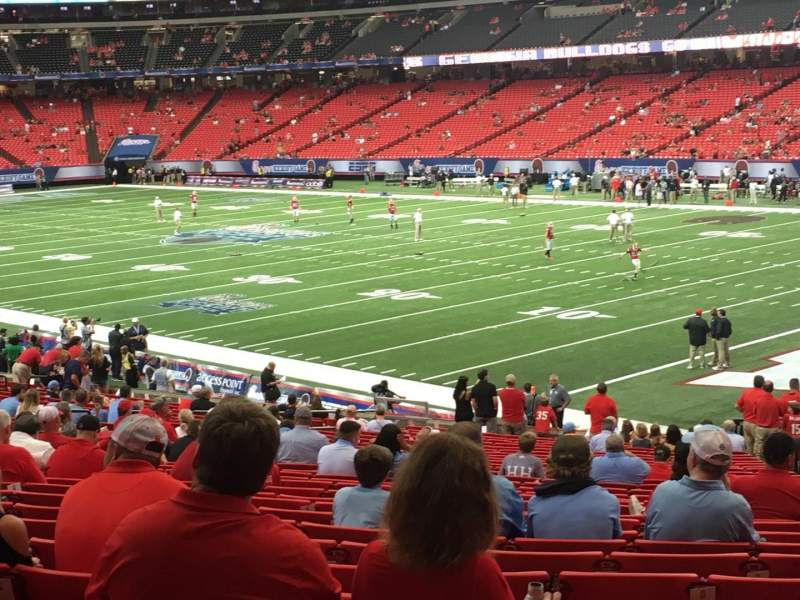 Seating view for Georgia Dome Section 110 Row 31 Seat 25