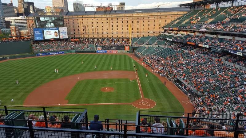 Seating view for Oriole Park at Camden Yards Section 348 Row 11 Seat 8