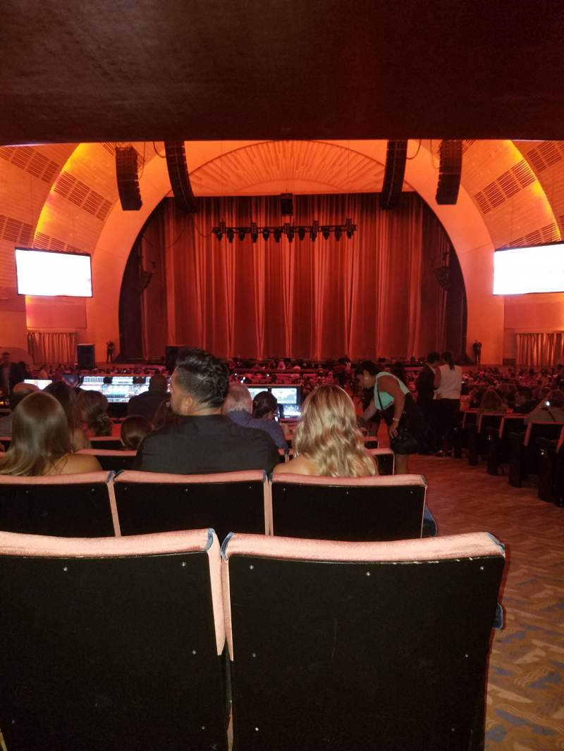 Seating view for Radio City Music Hall Section Orchestra 4 Row T Seat 401