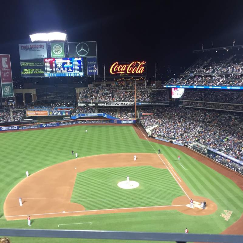 Seating view for Citi Field Section 520 Row 1 Seat 15