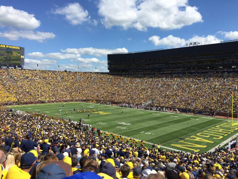 Seating view for Michigan Stadium Section 18 Row 57 Seat 27