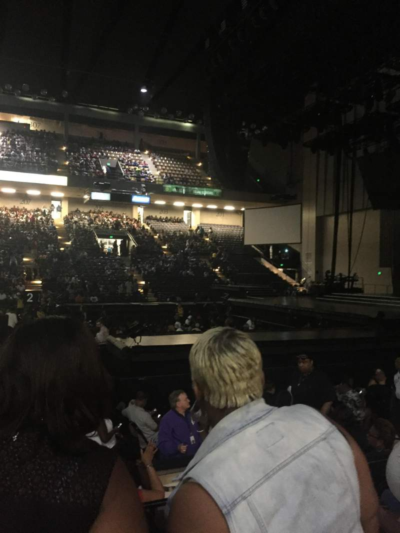 Seating view for Royal Farms Arena Section 108 Row D Seat 3