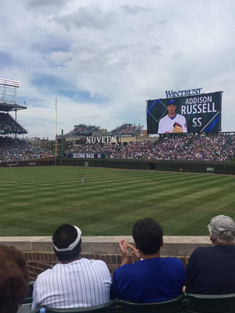Seating view for Wrigley Field Section 142 Row 15 Seat 4