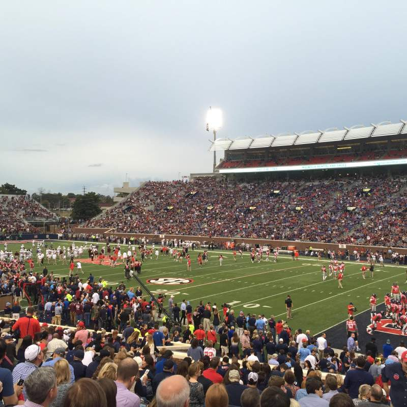 Seating view for Vaught-Hemingway Stadium Section A Row 24 Seat 10
