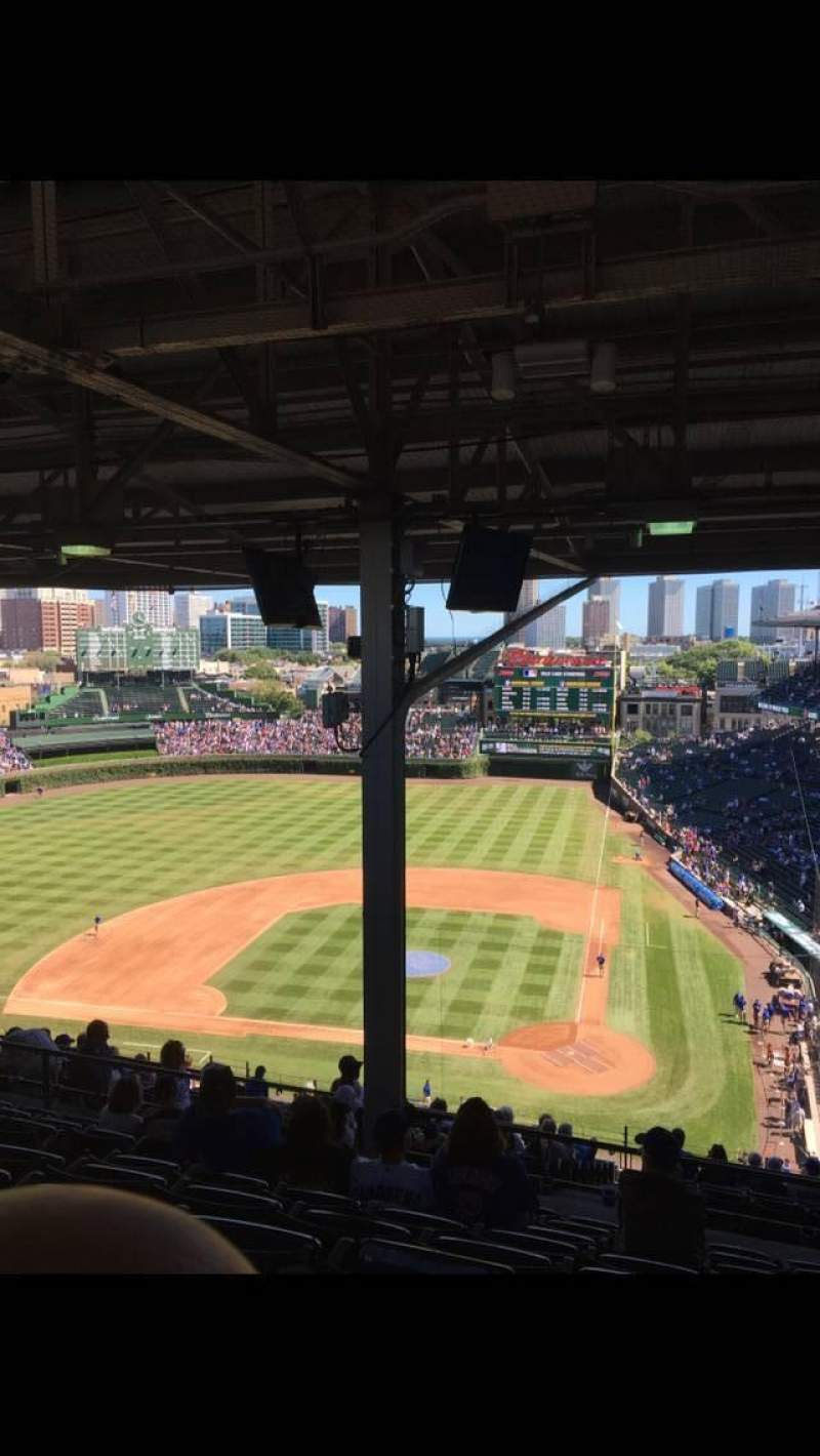 Seating view for Wrigley Field Section 517 Row 9 Seat 7