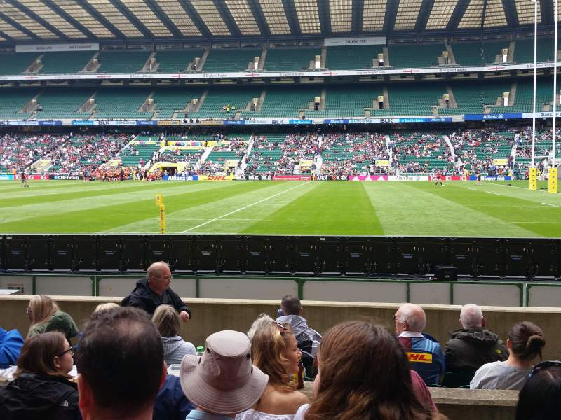 Seating view for Twickenham Stadium Section L4 Row 8 Seat 185/186